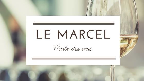 Carte du bar à vin le Marcel