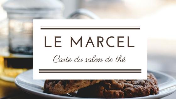 Carte du salon de thé Le Marcel